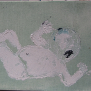 PUPPIES//ACRYLIC ON CANVAS//30X45//2013
