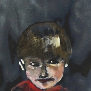 A CHILD//OIL ON PAPER//20X30//2009//SOLD