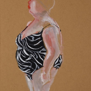 MY GRANDMOTHER//GOUACHE ON PAPER//40X50//2012